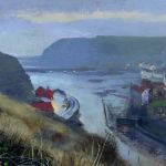 WE2016 4.0 'Staithes, Winter Evening.' 2016 Acrylic 160mm x 100mm SOLD
