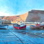 WE2016 18.0 'Staithes, Low Tide' 2016 Acrylic 560mm x 360mm SOLD