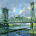1112 'Newport Bridge' acrylic 2019 160mm x 100mm