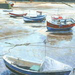1.Staithes Boats # 1 Acrylic. 160 x 240mm. 2010