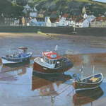 2.Staithes Boats # 2 Acrylic. 160 x 240mm. 2010 SOLD