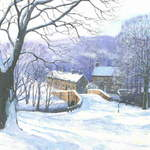 10. Lealholm Snow # 2. Acrylic. 360  x 250mm. 2010