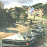 13. Staithes # 1. Acrylic.195 x 300mm. 2010. SOLD