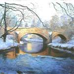 23. Egton Bridge. Acrylic. 300 x 200mm. 2010