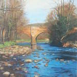 006 Bridge, Grosmont.  Acrylic.  2011.  210mmx270mm