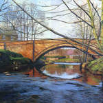 014 Bridge At Lealholm.  Acrylic.  2011.  360mmx250mm
