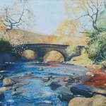 021 Bridge, Beck Hole.  Acrylic.  2011.  360mmx250mm