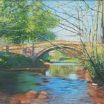 022 Bridge, Lealholm, Spring.  Acrylic.  2011.  250mm x 180mm