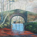023 Bridge, Westerdale.  Acrylic.  2011.  360mmx250mm