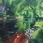 025 River Swale, Keld.  Acrylic.  2011.  360mmx250mm