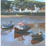 Staithes Boats. Acrylic 2010