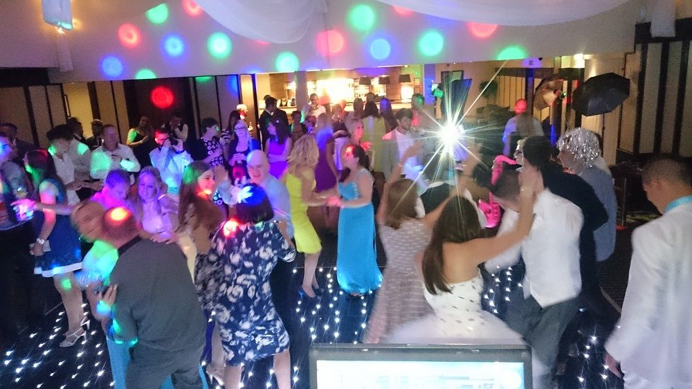 A1 mobile disco crowd on starlit dancefloor