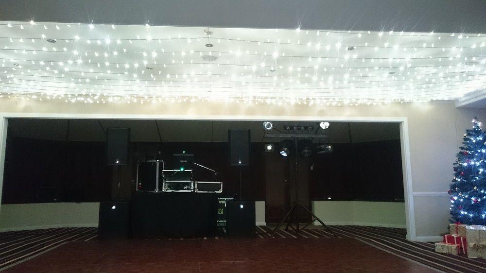 A1 mobile disco Felbridge hotel Christmas 2015 light