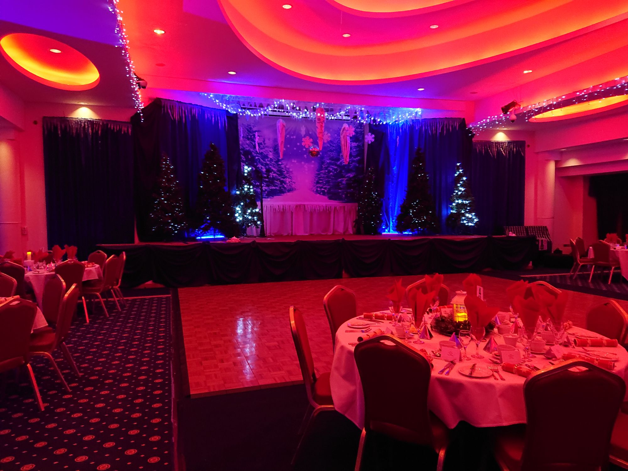 sussex national main ballroom christmas stage