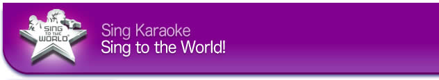Sing to the world karaoke logo