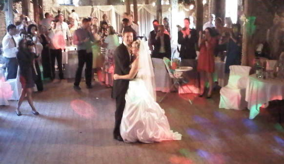 bride and groom first dance 1