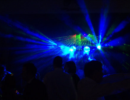 Full Blue Light Show