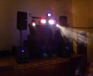Old Mobile Disco On Stage In Hall In Bognor Regis