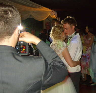 Upwaltham Barns Behind Videographer