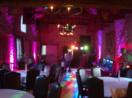 wedding disco Pink Uplighters 1