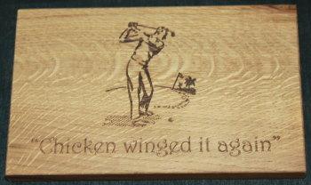 Chicken winged it.