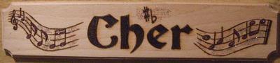 Music Name Plate