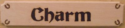 Wooden Horse Name Plates in colour
