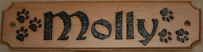 20120005 Molly and Marley doggie name plate2