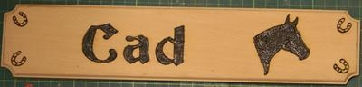 Wooden Horse Name Plates (with picture1)