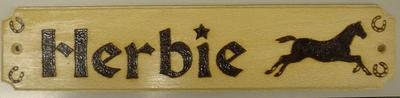 Wooden Horse Name Plates (with picture3)