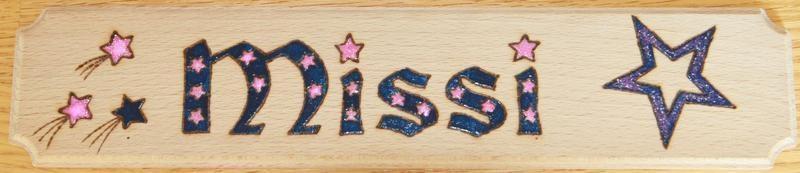 20120071 stella name plate pink glitter3
