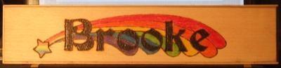 Rainbow Name Plate