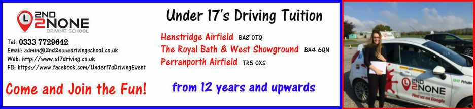 Under 17's driving Lessons Frome