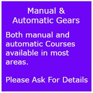 Automatic intensive driving courses Tiverton