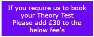 30 booking fee for theory