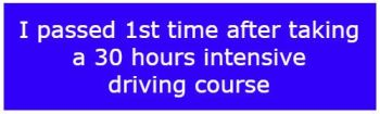 One Week Intensive Driving Courses Frome