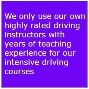 One week intensive driving courses Bradford