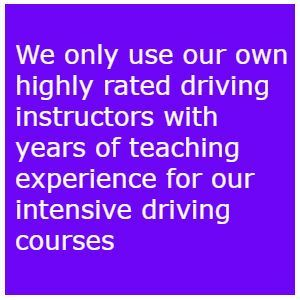 One week intensive driving courses Leeds