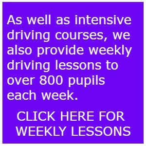 One week intensive driving courses Exeter