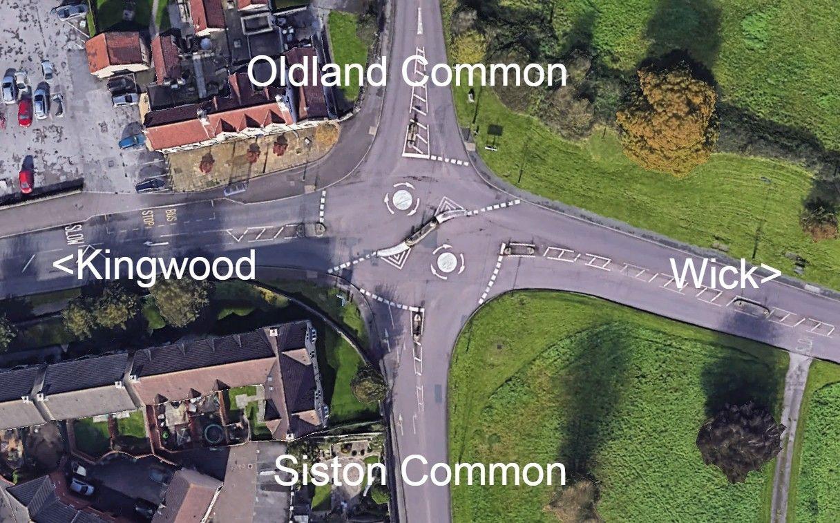 Downend Double Mini Roundabout Bristol
