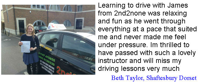 Driving Lessons Shaftesbury. Beth Taylor shaftesbury