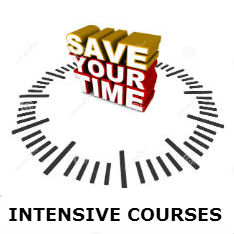 new intensive courses button