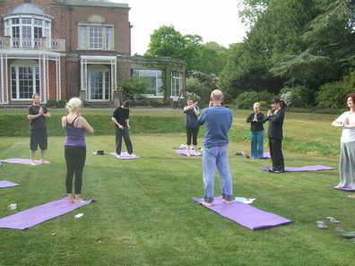 Yog on the lawn