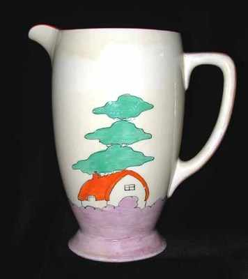 ORANGE ROOF COTTAGE JUG