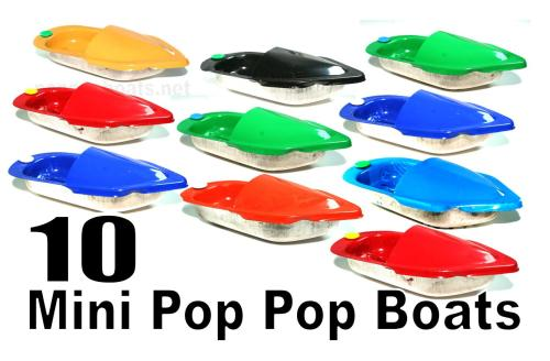 Mini  Pop Pop Boats - Set of Ten