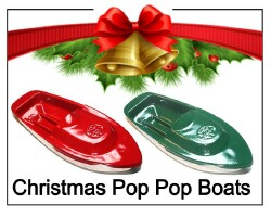 christmas pop pop boats with extra candles