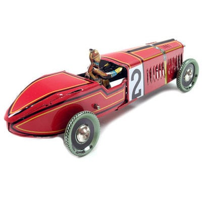 Tin Vintage Red Racing Car.