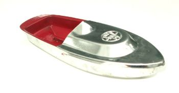 Avon 555 Pop Pop Boat - Red with Silver Top.