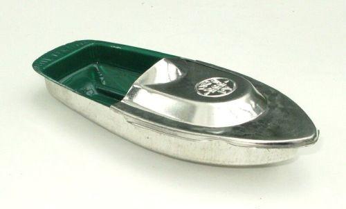 Avon Pop Pop Boat - Green & Silver.