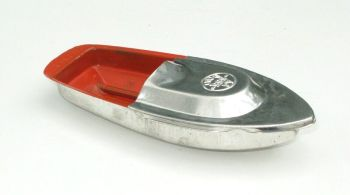 Avon 555 Pop Pop Boat - Orange with Silver Top.
